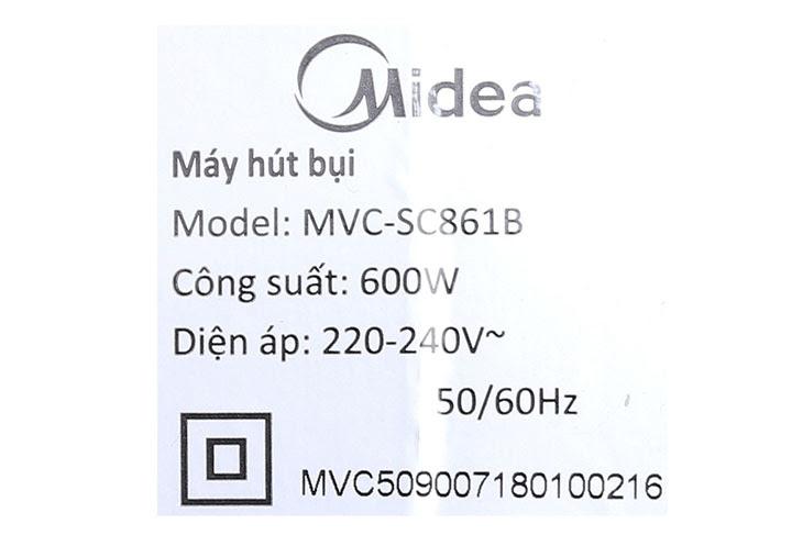 Hướng dẫn sử dụng máy hút bụi cầm tay Midea MVC-SC861B
